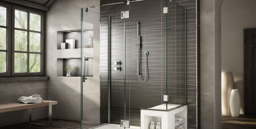 custom shower doors chicago modern style bathroom