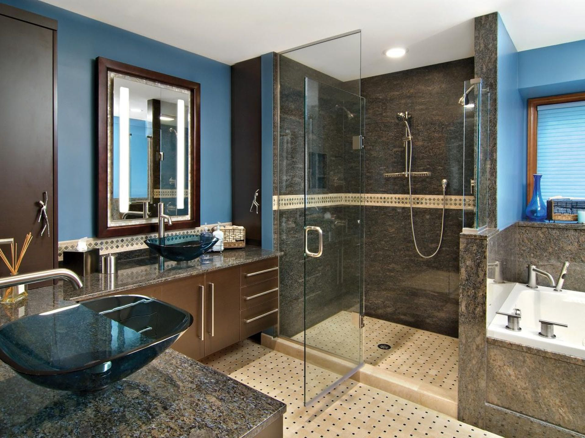 glass shower doors chicago marble bathroom