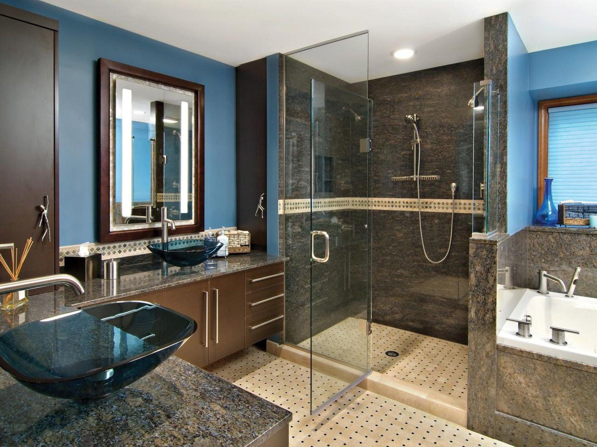 glass shower doors chicago marble bathroom